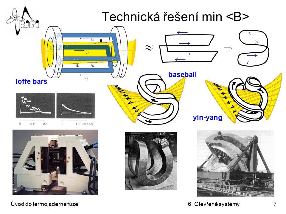 Úvod do termojaderné fúze6: Otevřené systémy7 Technická řešení min baseball yin-yang Ioffe bars