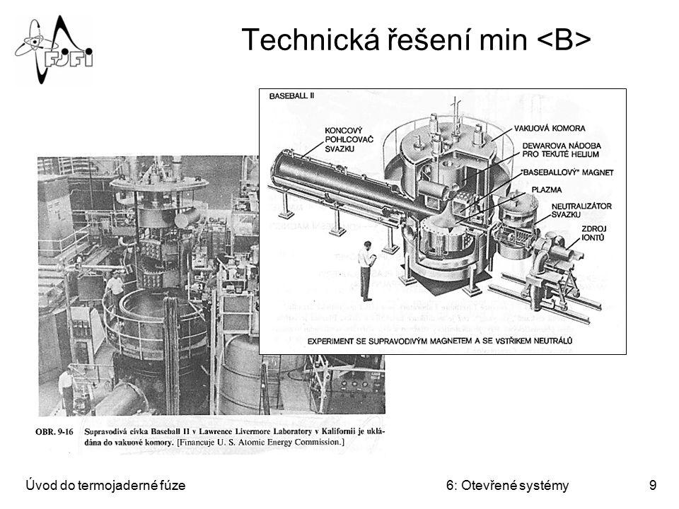 Úvod do termojaderné fúze6: Otevřené systémy10 Technická řešení min
