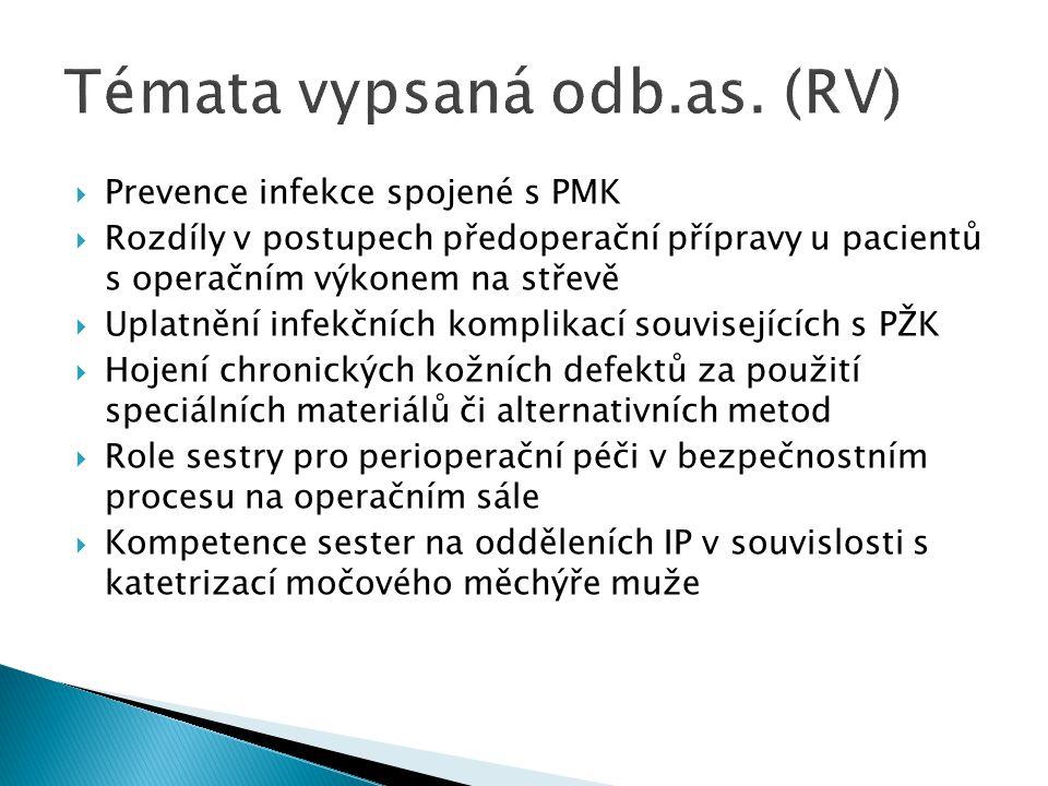  Další oddělení:  Ošet ř ovatelská pé č e o nemocného s diagnózou - lé č ený na odd ě leních: - psychiatrie - malé klinické obory - ambulance - Hospic (terminálně nemocný) - domácí péče