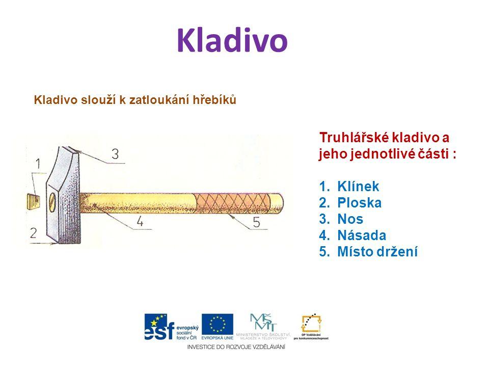 Upevnění kladiva Kladivo se upevňuje na toporo pomocí klínku.