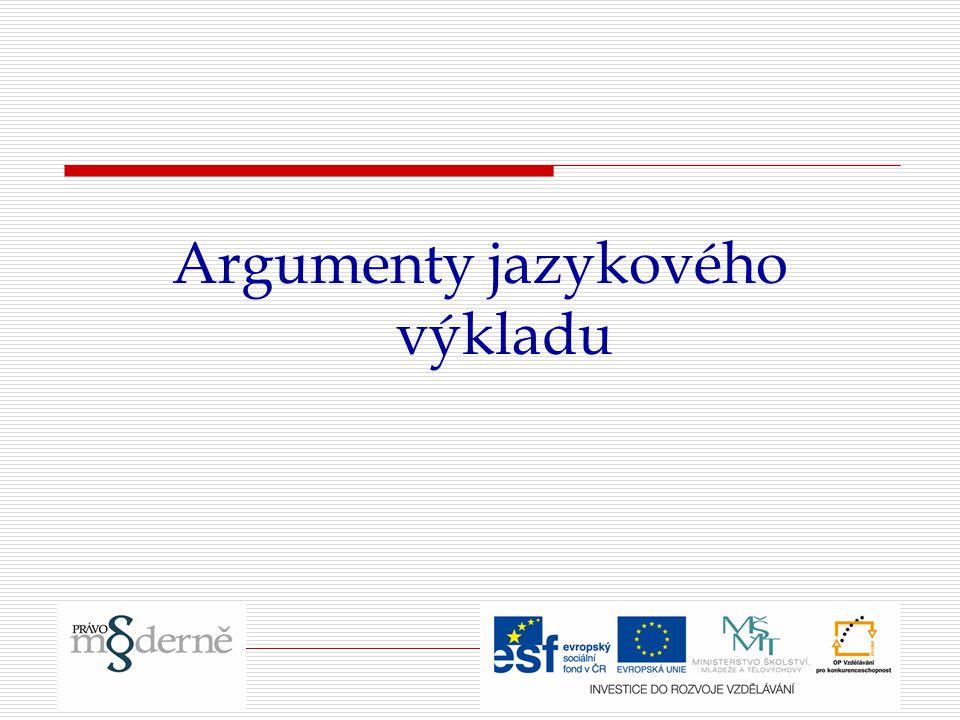 Argumenty jazykového výkladu