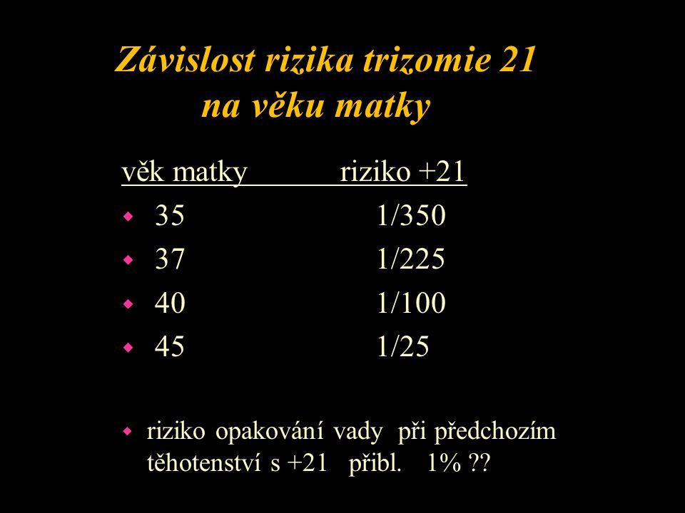 47,XX,+21 - volná trizomie 21