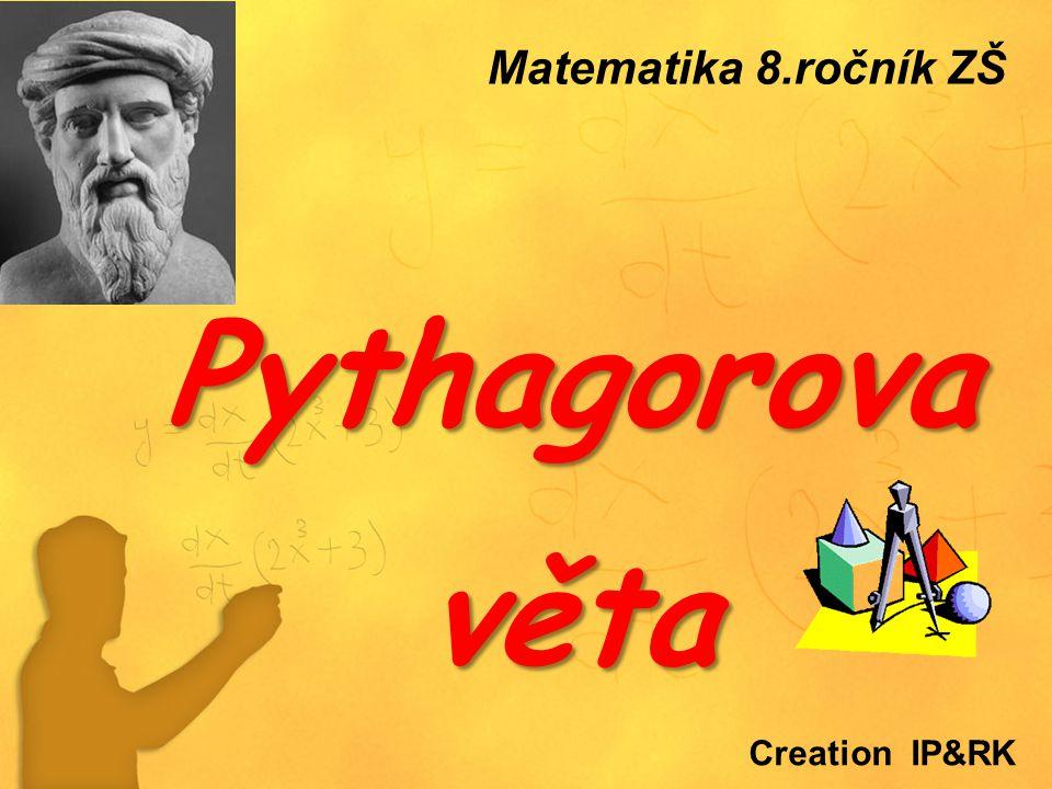 O B S A H :  Úvod - Praktické příklady ze života Úvod - Praktické příklady ze života  Princip Pythagorovy věty, definice Princip Pythagorovy věty, definice  Řešené příklady na užití Pythagorovy věty Řešené příklady na užití Pythagorovy věty  Pythagorova věta – vzorce (shrnutí) Pythagorova věta – vzorce (shrnutí)  Obrácená Pythagorova věta (+příklady)) Obrácená Pythagorova věta (+příklady))  Řešené příklady na užití PV v rovině i prostoru Řešené příklady na užití PV v rovině i prostoru  Pythagorejská čísla, Obecná Pythagorova věta Pythagorejská čísla, Obecná Pythagorova věta  Trocha historie Trocha historie  Výuková videa Výuková videa