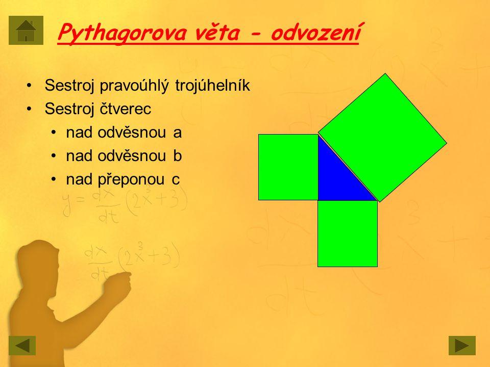 Pro přemýšlivé Lze sestrojit nad stranami trojúhelníka jiné obrazce než čtverce, aby platilo: Obsah obrazce nad přeponou se rovná součtu obsahů obrazců nad odvěsnami?