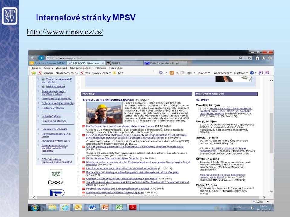 Internetové stránky MPSV 13