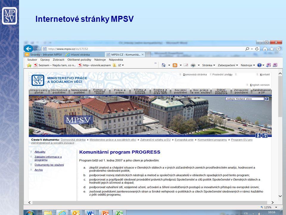 19 Internetové stránky MPSV