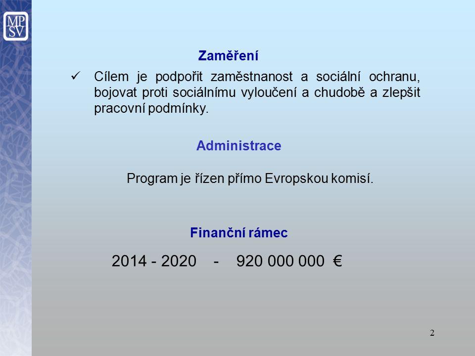 1 Program EU pro zaměstnanost a sociální inovace (EaSI) Jitka Zukalová, MPSV, oddělení Evropské unie
