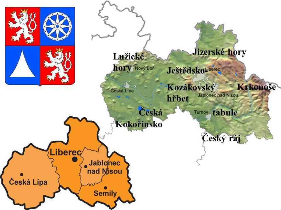 Lužické hory Jizerské hory Krkonoše Česká tabule Kokořínsko Český ráj Ještědsko- Kozákovský hřbet