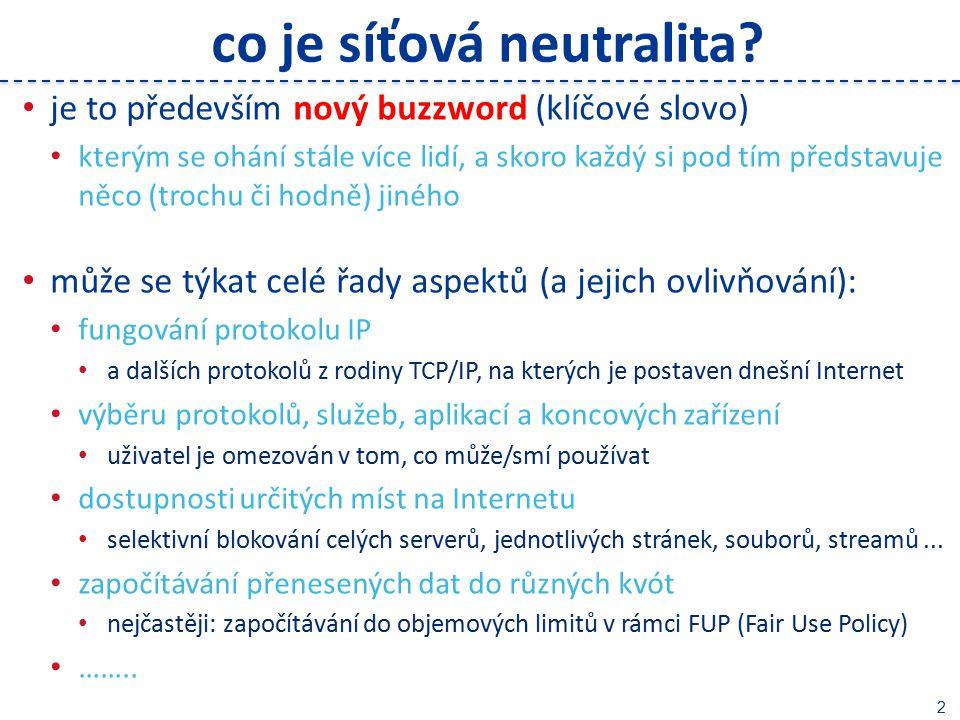 2 co je síťová neutralita.