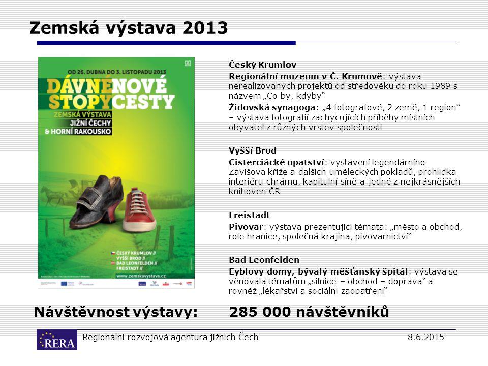 Regionální rozvojová agentura jižních Čech8.6.2015 Zemská výstava 2013 Český Krumlov Regionální muzeum v Č.