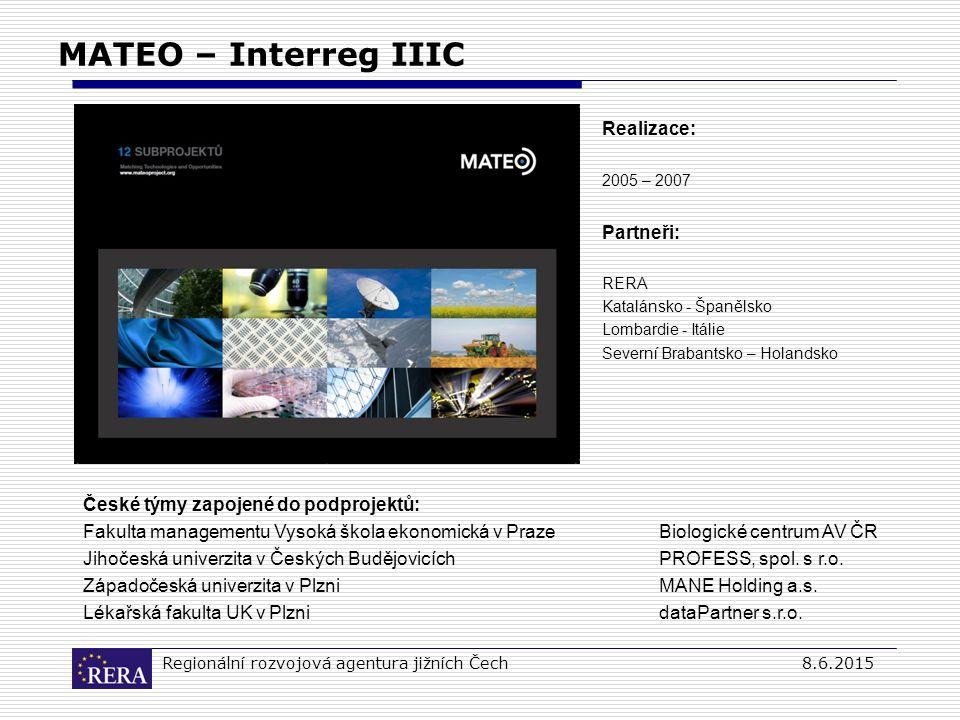 Regionální rozvojová agentura jižních Čech8.6.2015 MATEO