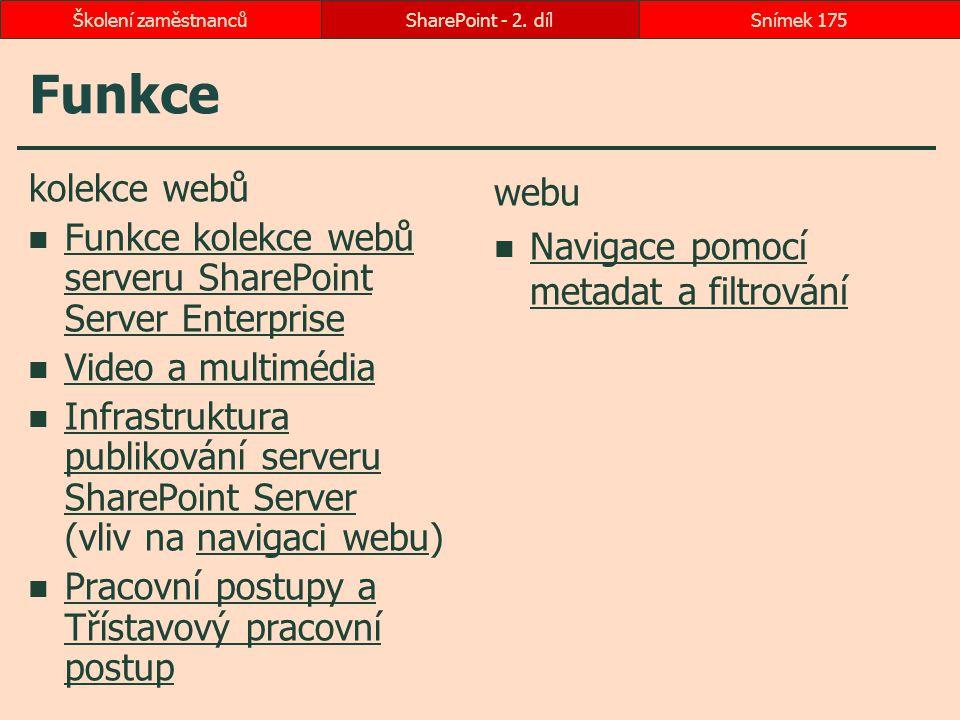Funkce kolekce webů Funkce kolekce webů serveru SharePoint Server Enterprise Funkce kolekce webů serveru SharePoint Server Enterprise Video a multiméd
