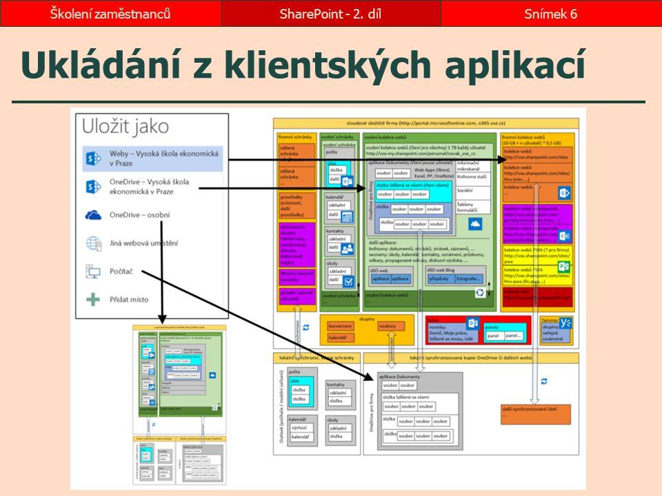 Ukládání z klientských aplikací SharePoint - 2. dílSnímek 6Školení zaměstnanců