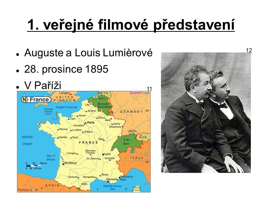 1. filmové příběhy Autor - Georges Méliès Cesta na měsíc - 1902 Cesta do neznáma – 1902 13 14 15