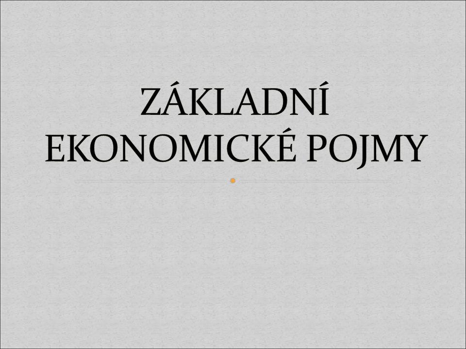 Ekonomie, ekonomika, mikroekonomie, makroekonomie, základní ekonomické otázky, spotřeba,statek, služba, výroba, výrobní faktory.
