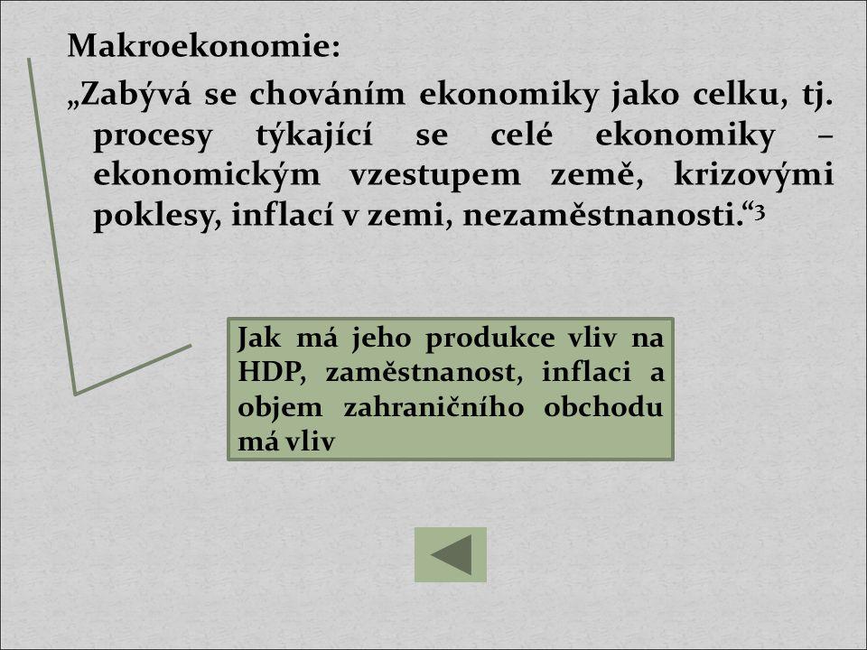 """Ekonomika """"Oblast společenské praxe, zahrnující především výrobu statků a služeb, jejich rozdělování, směnu a spotřebu. 4 Uplatnění ekonomických teorií v praxi této firmy"""