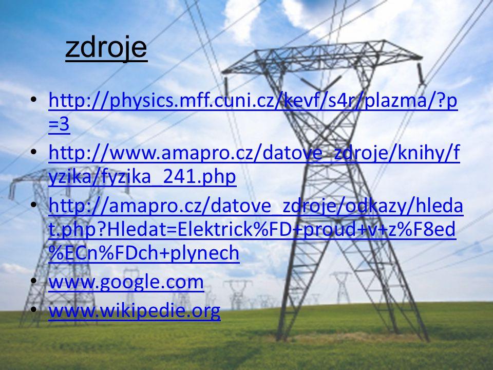 zdroje http://physics.mff.cuni.cz/kevf/s4r/plazma/?p =3 http://physics.mff.cuni.cz/kevf/s4r/plazma/?p =3 http://www.amapro.cz/datove_zdroje/knihy/f yz