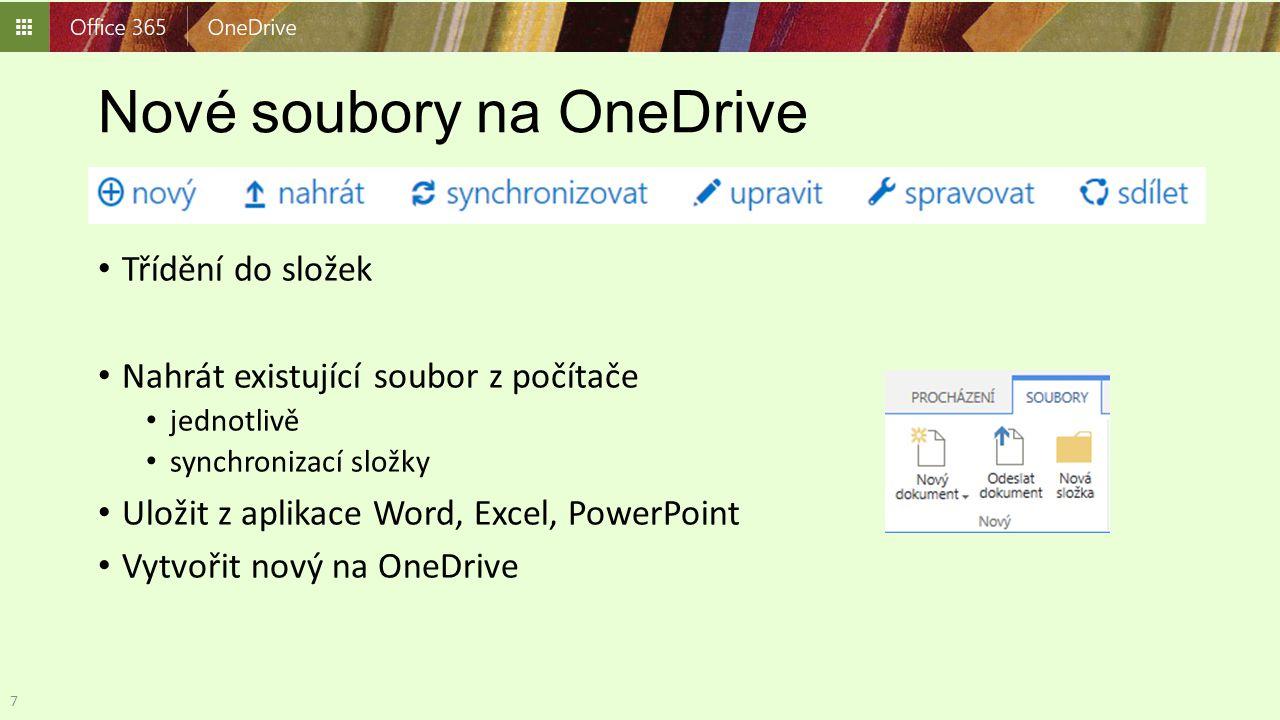 Nahrát soubory na OneDrive Tlačítko Nahrát Tažením myší Průzkumník karta Knihovna, otevřít v Průzkumníkovi 8