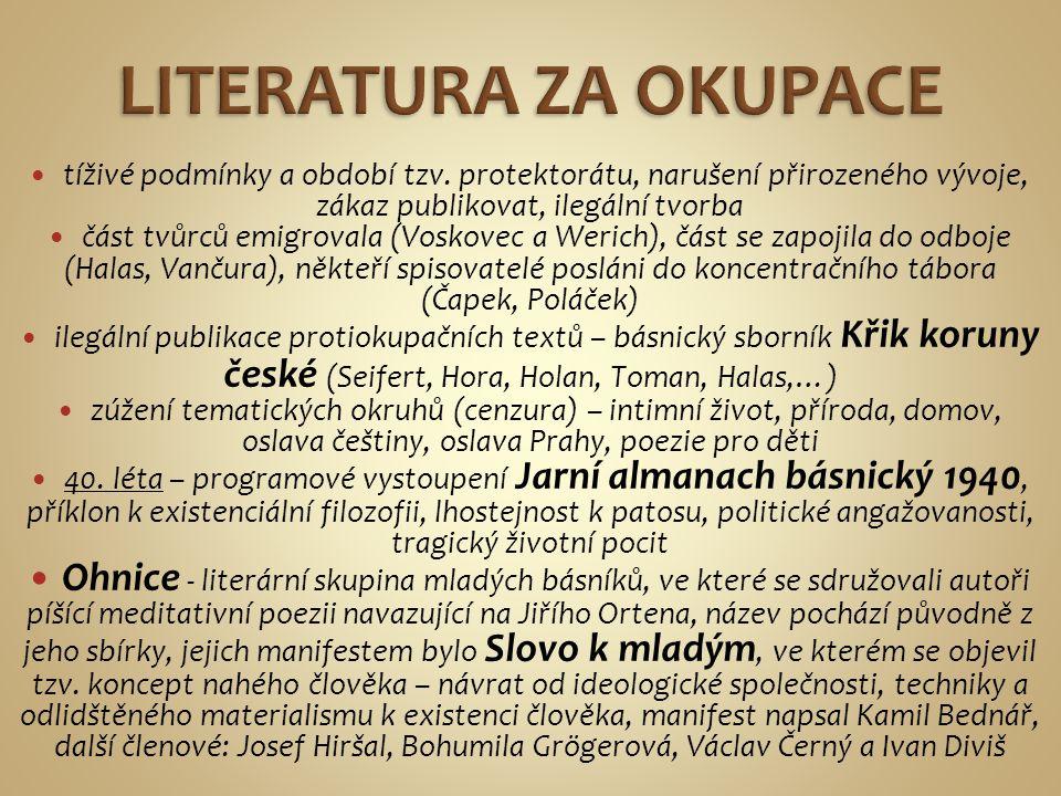 -básník (existenciální poezie), překladatel, představitel válečné generace -narodil se v Praze v rodině úředníka -nedokončil studia práv a filozofie -pracoval v různých nakladatelstvích, např.