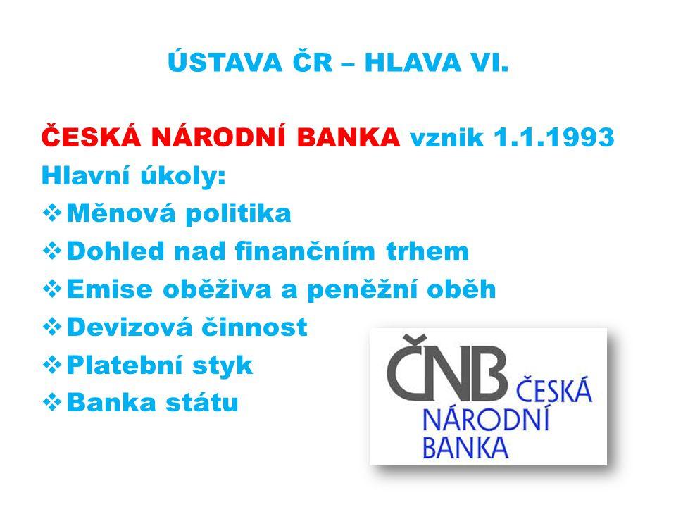 ÚSTAVA ČR – HLAVA VI.