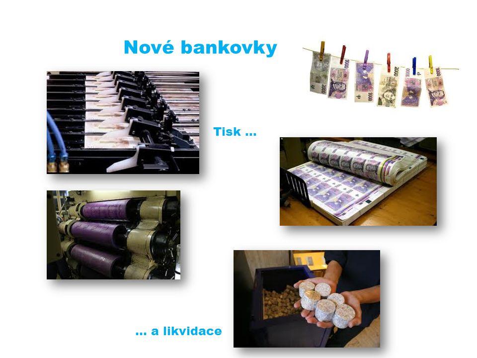 Nové bankovky Tisk … … a likvidace