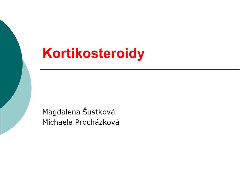 KORTIKOSTEROIDY  kortikosteroidní nebo kortikoidní hormony jsou steroidní hormony vznikající v buňkách kůry nadledvinsteroidníhormonynadledvin  syntetická analoga těchto hormonů
