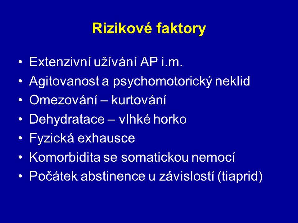 Rizikové faktory Extenzivní užívání AP i.m.