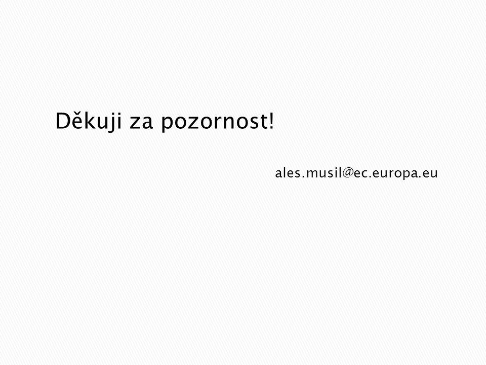 ales.musil@ec.europa.eu Děkuji za pozornost!