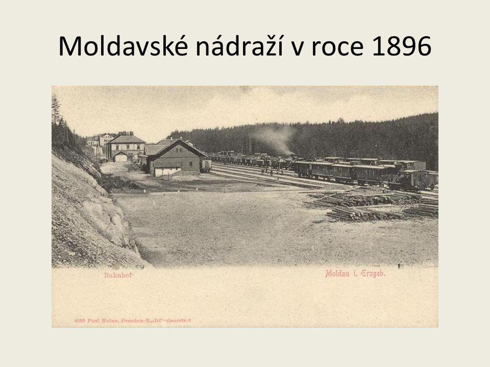 Moldavské nádraží v roce 1896