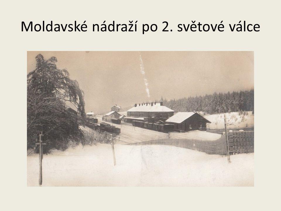 Moldavské nádraží po 2. světové válce