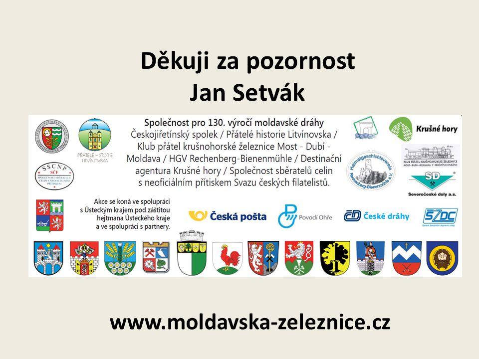 Děkuji za pozornost Jan Setvák www.moldavska-zeleznice.cz