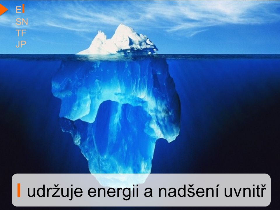 I udržuje energii a nadšení uvnitř E I SN TF JP
