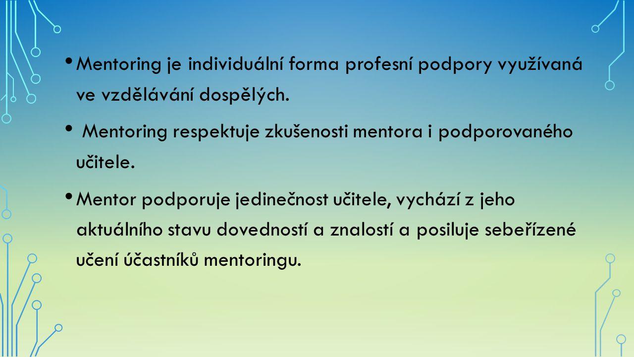 Mentoring je individuální forma profesní podpory využívaná ve vzdělávání dospělých.