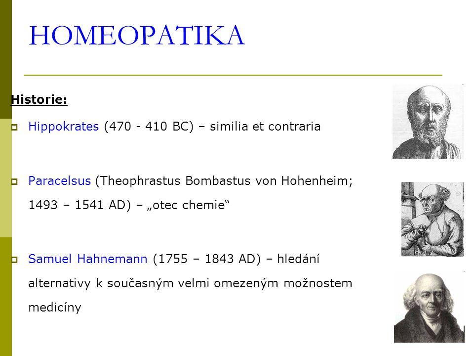 HOMEOPATIKA  první zkouška léku (proving) – pokus s Cinchonou (oponuje terapeut.