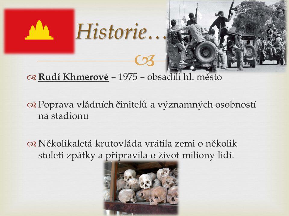   Rudí Khmerové – 1975 – obsadili hl.