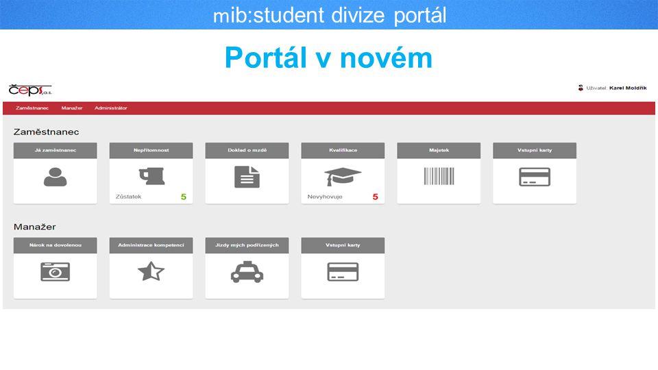 Portál v novém m ib:student divize portál