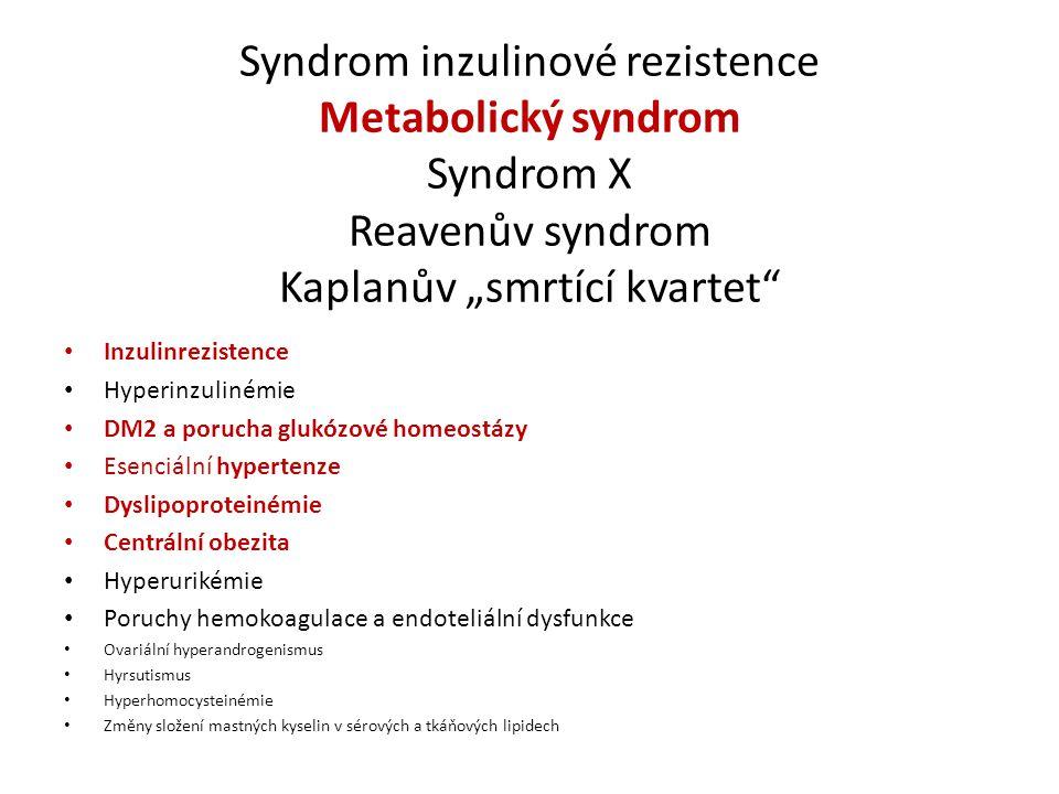 """DM2 V ČR je léčeno víc než 860 000 diabetiků Většinou spojen s obezitou Většinou ve vyšším věku (s nárůstem obezity v populaci nelze vyloučit ani v dětství) Skutečnost – patogeneze DM2 stále není uspokojivě vysvětlena – roli hraje inzulinrezistence (navozená různými mechanizmy na všech úrovních působení inzulínu na buňku), zánik β buněk (včetně mechanismu """"glucose toxicity ) - není jasné, která z těchto poruch je primární."""