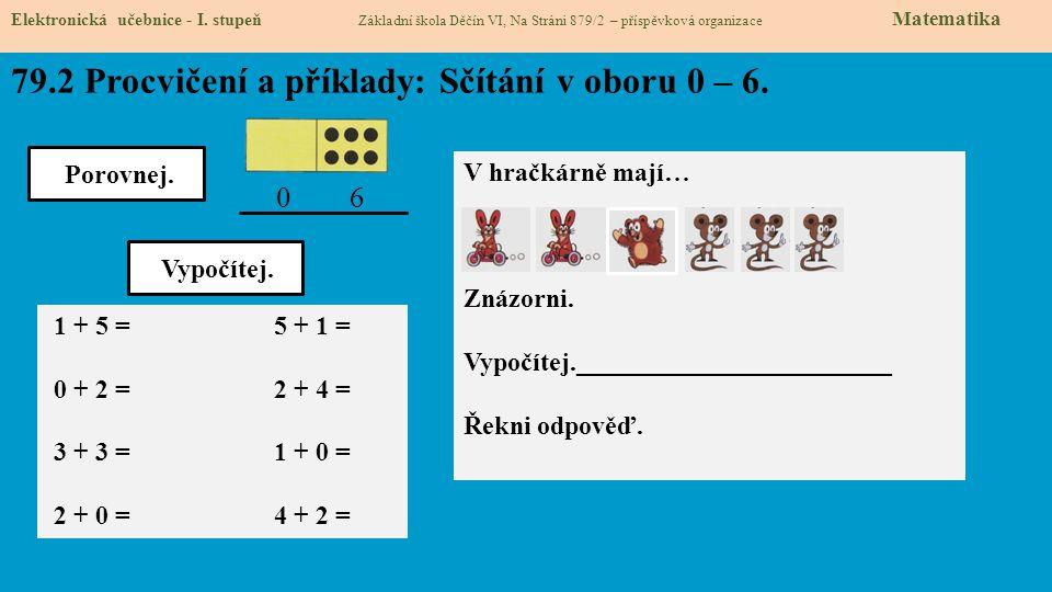 79.3 Procvičení a příklady: Odčítání v oboru 0 – 6.