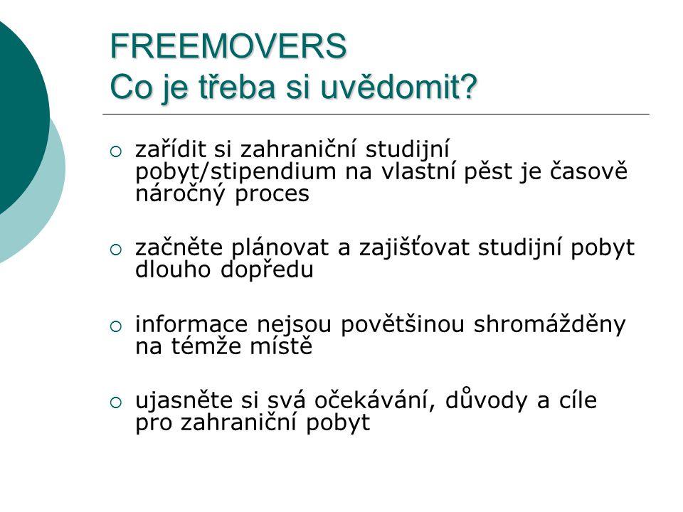 FREEMOVERS Co je třeba si uvědomit.