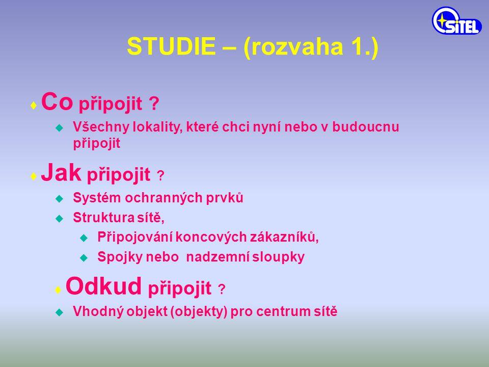 STUDIE – (rozvaha 2.) ♦ Kdy připojit .