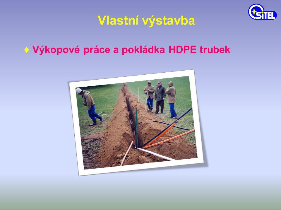 Vlastní výstavba ♦ Zafukování optických kabelů