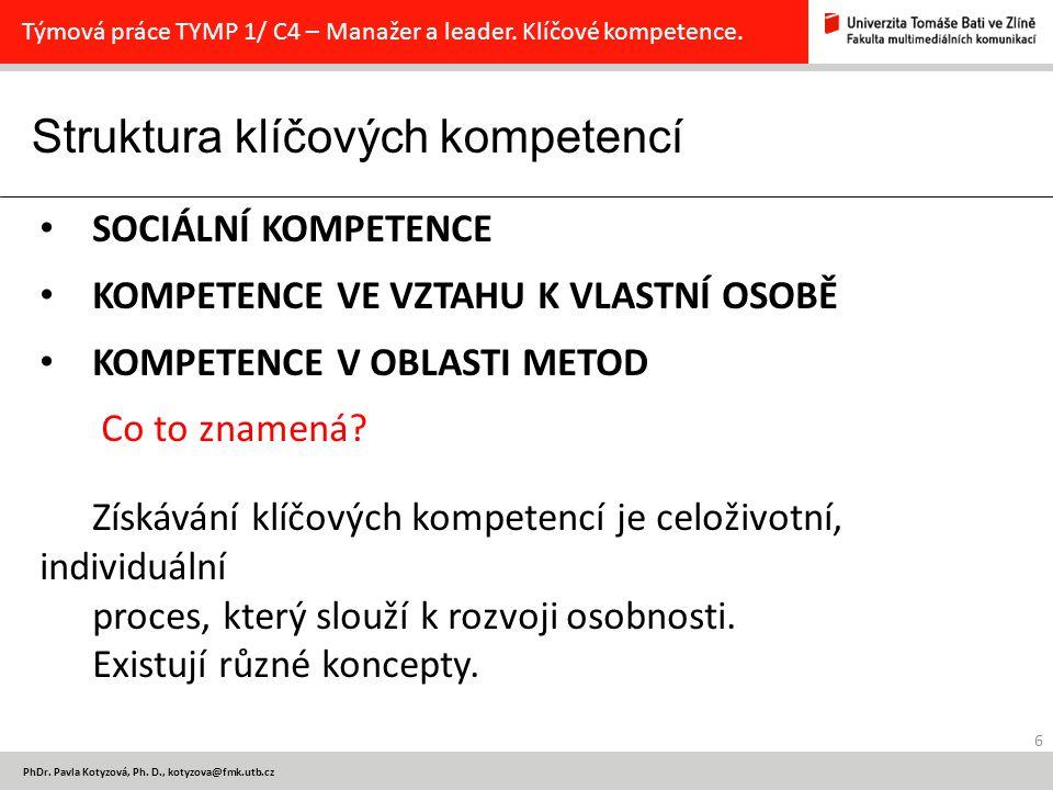 Sociální kompetence 7 PhDr.Pavla Kotyzová, Ph.