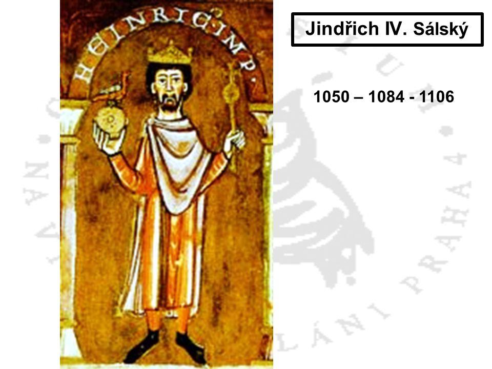 Jindřich IV.Sálský + AgnesFridrich I. Švábský † 1105 Fridrich II.