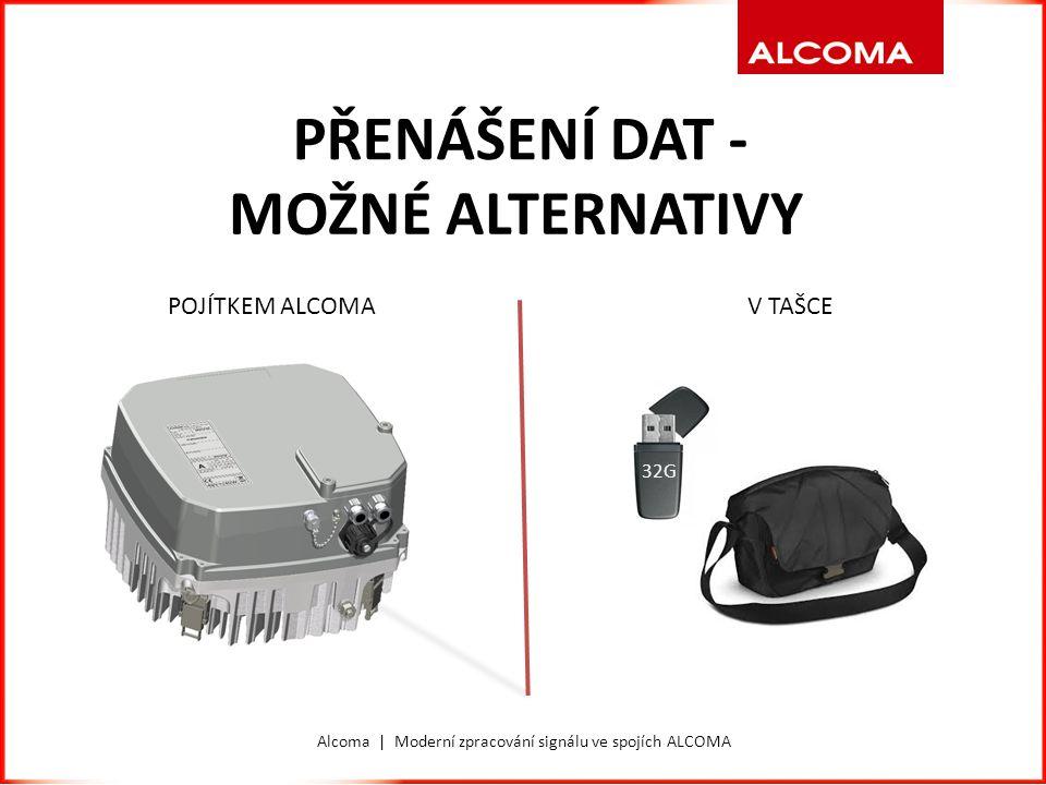 Alcoma | Moderní zpracování signálu ve spojích ALCOMA PŘENÁŠENÍ DAT - MOŽNÉ ALTERNATIVY 32G V TAŠCEPOJÍTKEM ALCOMA