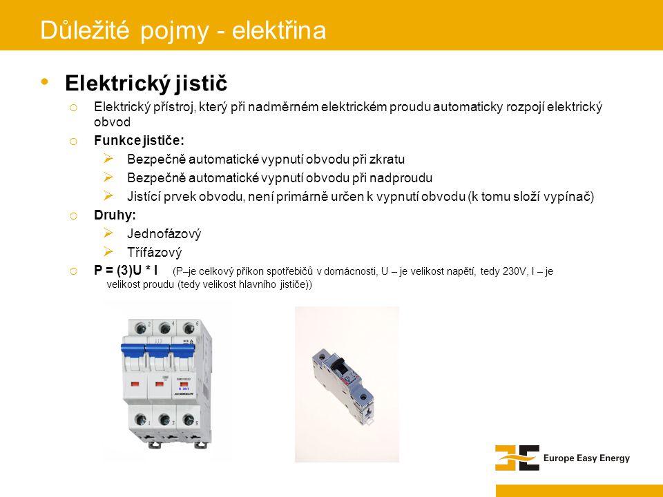 Elektrický jistič o Elektrický přístroj, který při nadměrném elektrickém proudu automaticky rozpojí elektrický obvod o Funkce jističe:  Bezpečně auto