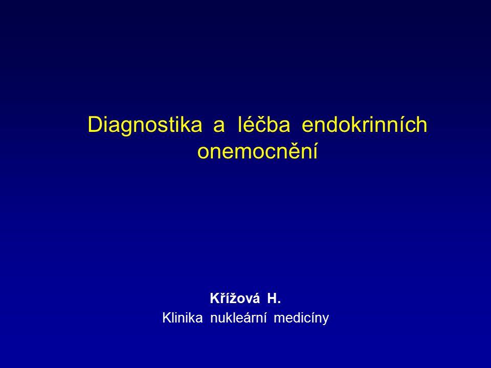 Diagnostika a léčba endokrinních onemocnění Křížová H. Klinika nukleární medicíny
