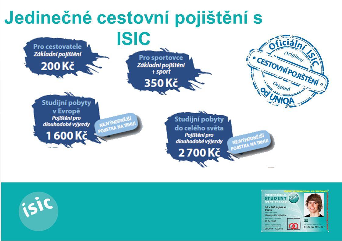 Jak si zřídit ISIC? 1. osobní údaje 2. podpis 3. 260,-Kč 4. p. zástupce