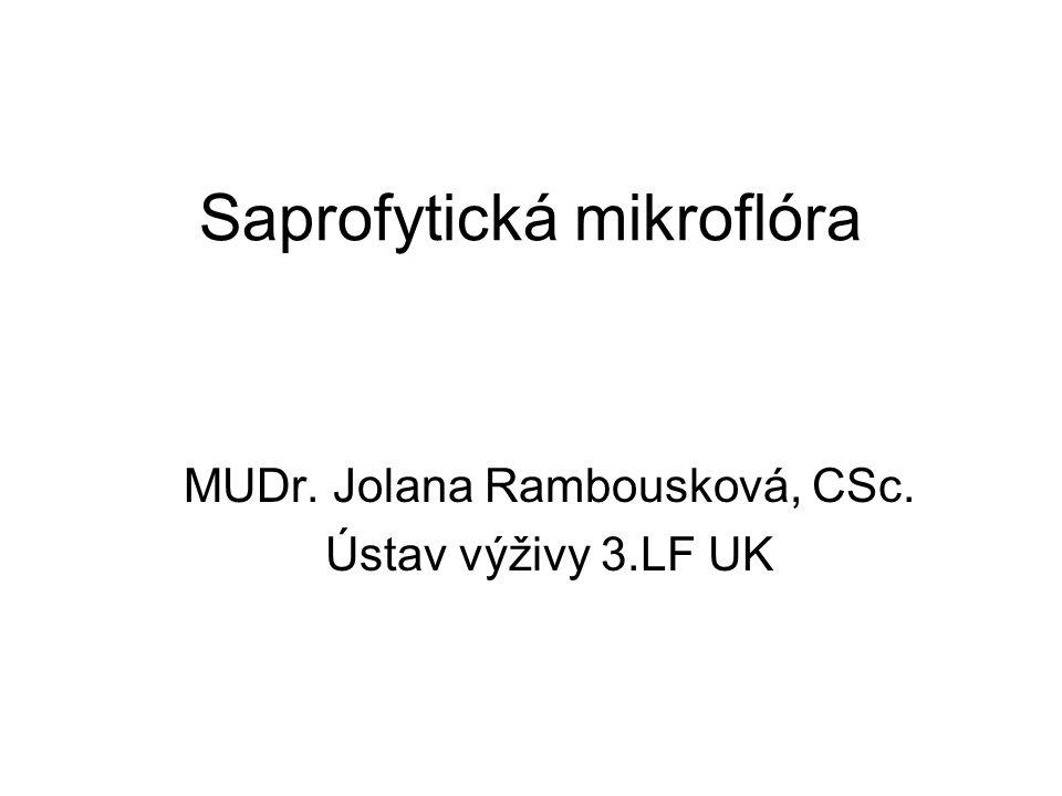 Saprofytická mikroflóra MUDr. Jolana Rambousková, CSc. Ústav výživy 3.LF UK