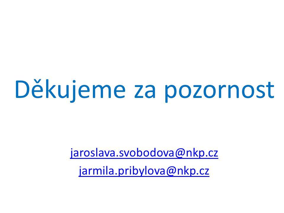 Děkujeme za pozornost jaroslava.svobodova@nkp.cz jarmila.pribylova@nkp.cz