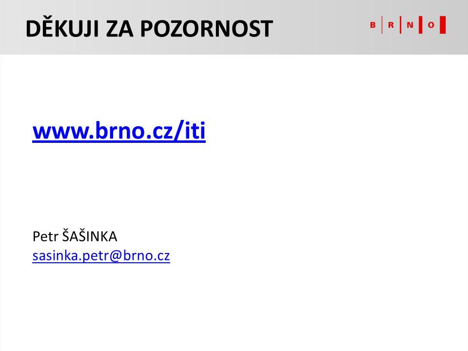 Petr ŠAŠINKA sasinka.petr@brno.cz DĚKUJI ZA POZORNOST www.brno.cz/iti